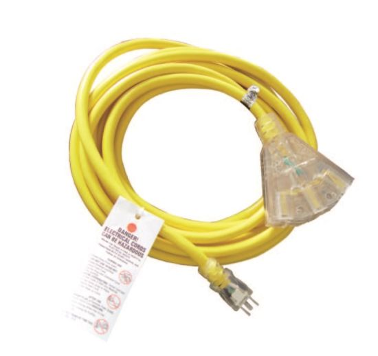 Outdoor Triple Tap Extension Cord with Indicator Light 06-Ggpt6616