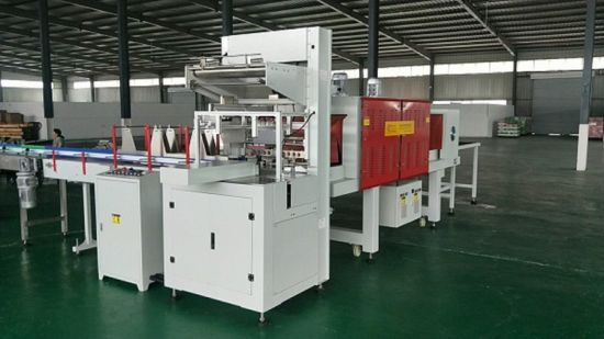 PE Film Automatic Heat (hot) L Type Sealer Sealing and Shrink (shrinkable) Shrinking Wrapping (Wrap) Package/Packaging/Packing Packer Machine