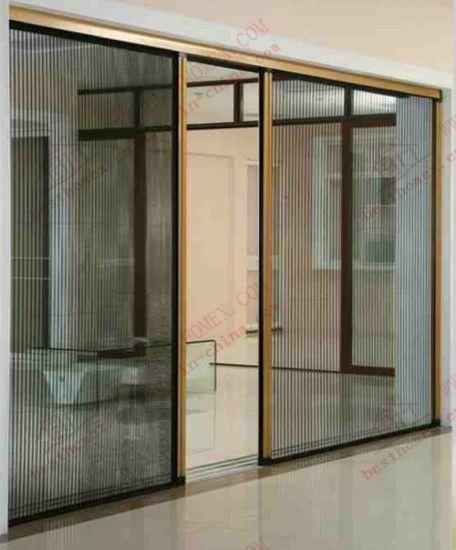 China barrier free caterpillar mesh screen door bhn fd04 for Mosquito net for french doors