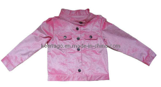 Lovely Pink 100% Cotton Girl Apparel with Long Sleeve Kids Clothing