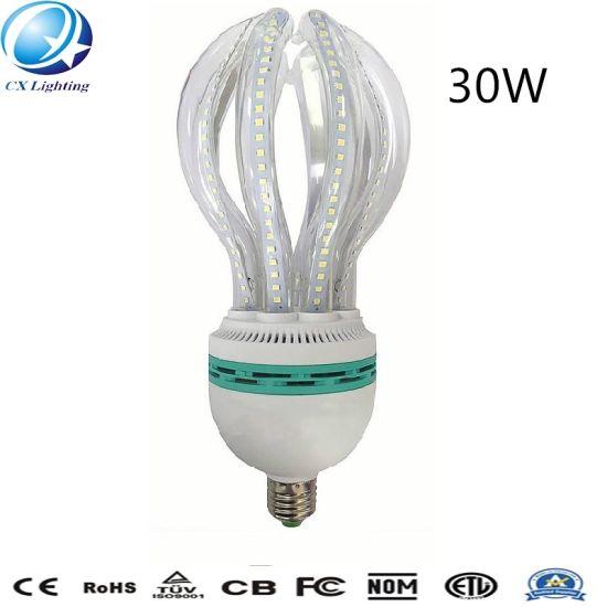 30W E27 Highlight Glass Clear Milky Lotus Shape LED Energy Saving Lamp