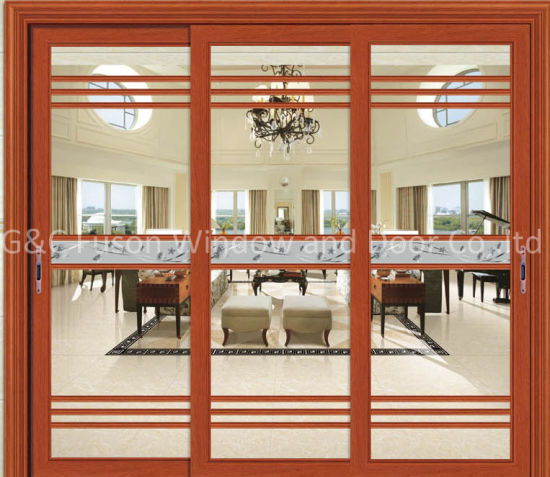 China Luxury Aluminium Double Glass Interior Sliding Doors China