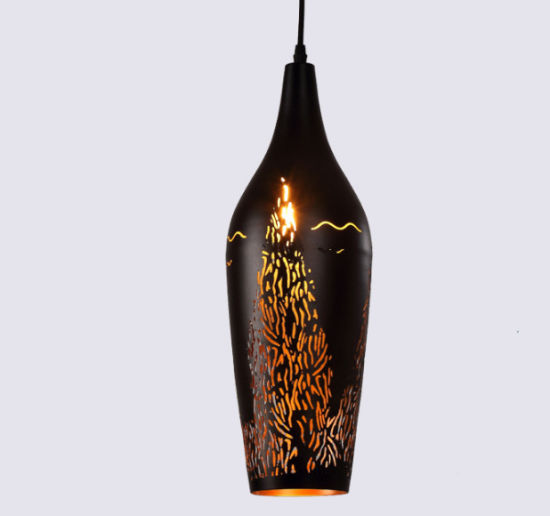 Wholesale Amazon Hot Sale Etched Wine Bottle Shape Pendant Lights with Low Price