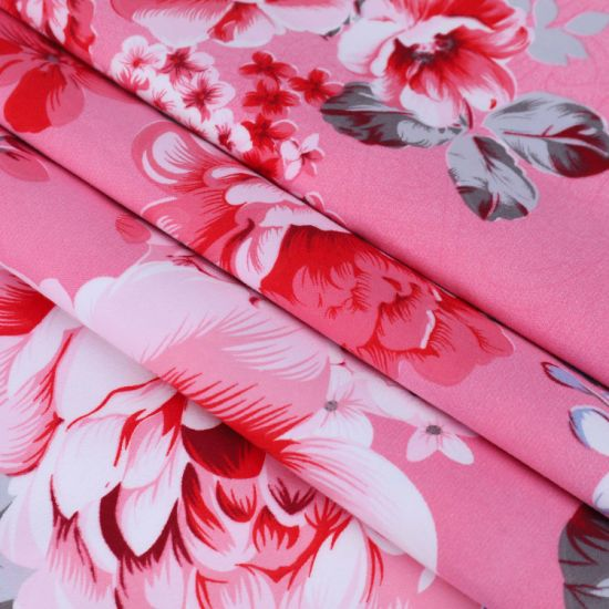 New Flower Dispersed Print Bedding Sheet for Polyester Fabric