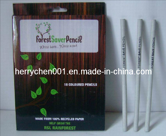 18 Colors Recycled Craft Paper Color Pencil (SKY-808)
