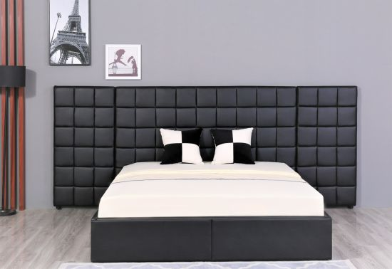 Custom Bed Luxury Bedroom Furniture White Bed Non-Folding Bed pictures & photos