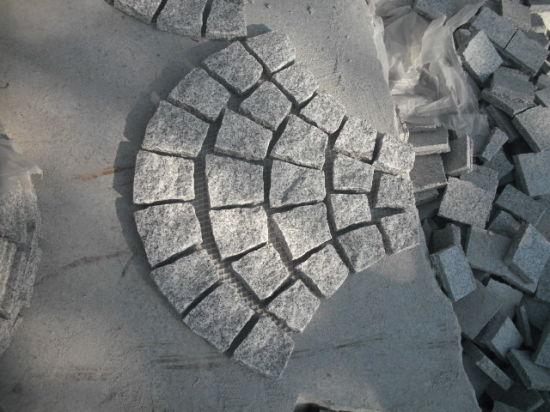 Natural Stone Granite Paving Stone on Mesh for Ourtdoors Street/Garden/Landcaping