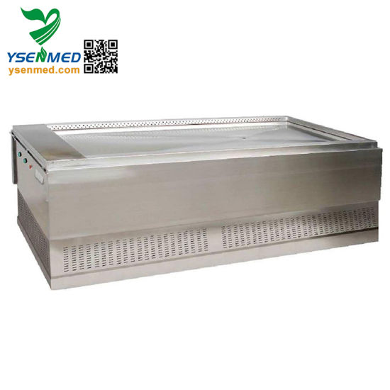 Ysjp-02b China Durable Hospital Stainless Steel Autopsy Table pictures & photos