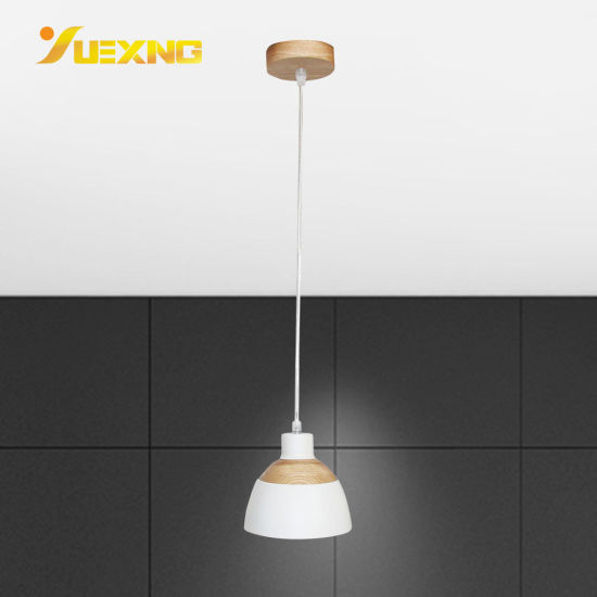 Wholesale Customizable Home Hotel E27 Wooden Iron Ceiling Indoor Decor Gold Crystal Modern Hanging Pendant Lamp