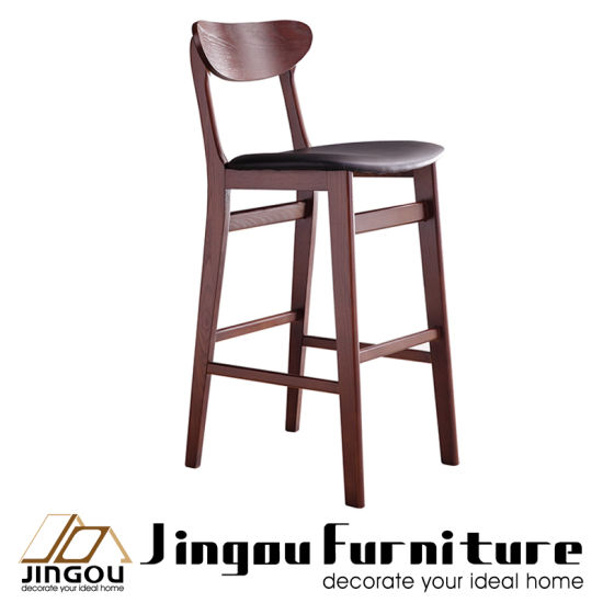 Modern Solid Wooden Home Furniture Hotel Bar Set Contemporary Restaurant  Chairs For Dining Room
