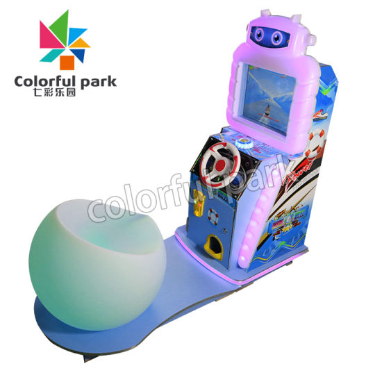 Colorful Park Cracy Rowing Kiddie Ride Children Rcing Mini Car for Kids Park