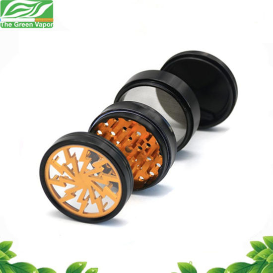Hot Sale Grinding Machine 4 Pieces 55mm Flash Thunder Spice Grinder for E Cigarette Smoking