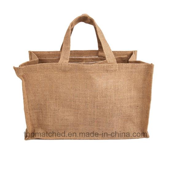 China Online Custom Reusable Folding Shopping Jute Bags