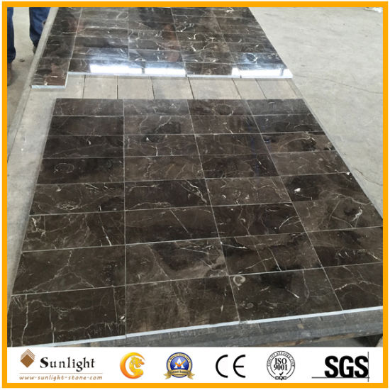 China Polished Dark Emperador Marron Brown Marble Slabs pictures & photos