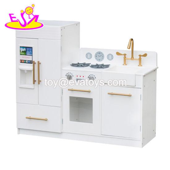 New Arrival Big White Wooden Play Kitchen Toys for Children Pretend W10c370e