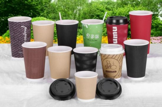 6cf905a4c7f Ripple Wall Double Wall Single Wall Disposable Coffee Paper Cup pictures &  photos