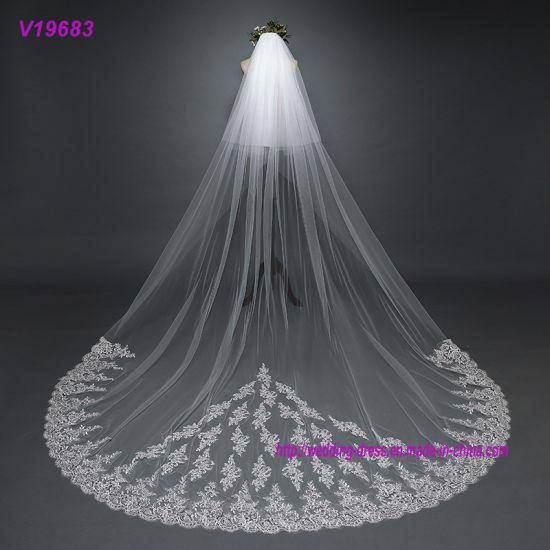 Veil with Comb Long Lace Appliques Bridal Gowns Veil