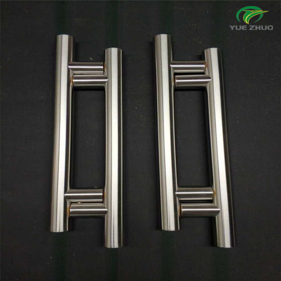 China Stainless Steel Round Tube Commercial Glass Door Pull Handle