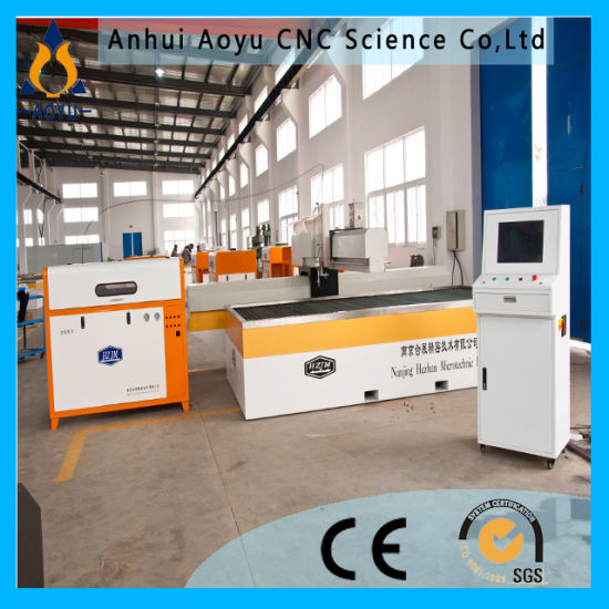 Ay3018u 6000psi 5-Axis CNC Water Jet Stone Cutting Machine for Floor Medallion Design/ Marble, Granite Cutting