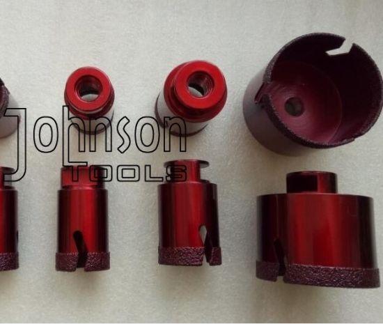 """6mm-180mm Diamond Drill Bit Vacuum Brazed Diamond Tools, M14, 1/2"""" Gas or Hax Shank."""