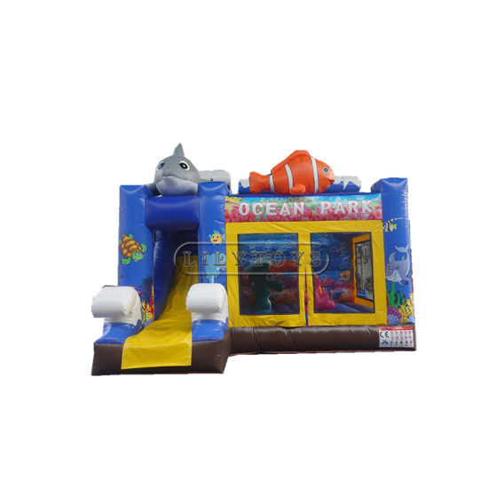 Inflatable Castle Bouncer with Slide Ocean Theme Factory Price pictures & photos