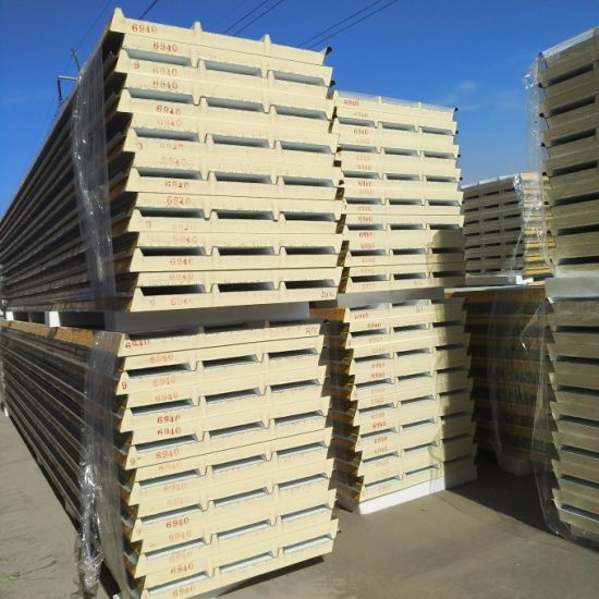 PIR/PUR/PU Polyurethane Wall/Roof Sandwich Panel for Cold Room/Storage/Prefab House pictures & photos