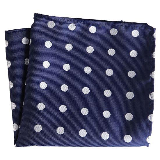 Men Cotton Polka Dots Flower Pocket Square Handkerchief Wedding Party Hanky