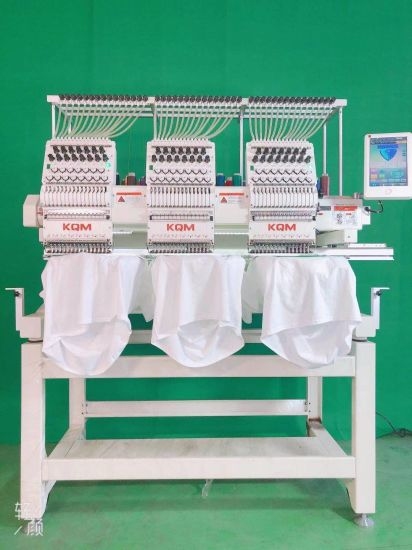3 Years Quality Warranty! ! ! New 3 Head Japan Used Embroidery Machine Price with 15 Colors Sequin Hat T-Shirt Flat Device