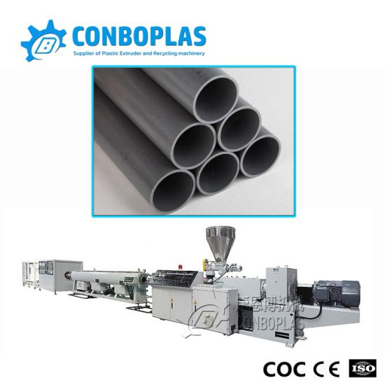 Plastic Extrude Machine Double Screw Extruder PVC Water Pipe Extrusion Line