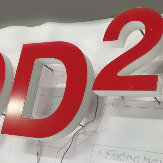 China Outdoor Advertising Laser Cutting Acrylic Backlit Sign