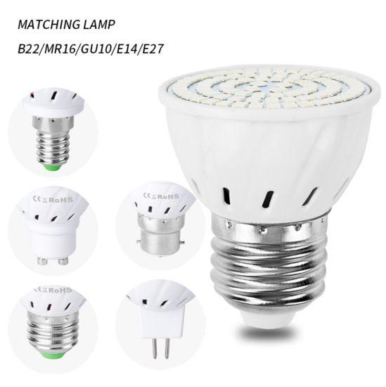 LED Lamp Cup E27 Plant Growth Light Cup 48/60/80 LEDs 220V Planting Fill Light Lamp Spotlight