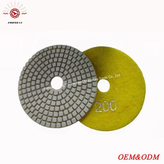 "4/"" WetDry Diamond Polishing Pad Granite Concrete Marble"