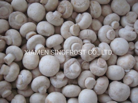 IQF Champignon Mushrooms, Frozen Champignon Mushrooms, Wholes/Slices/Cuts, Blanched/Cooked/Unblanched pictures & photos