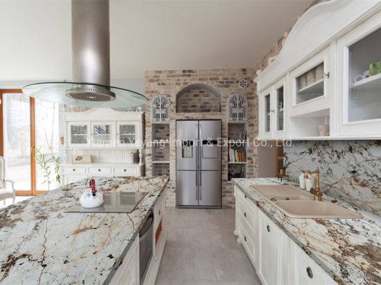 Brown/White Granite for Kitchen/Countertop/Workbench/Vanity/Dining/Restaurant Table Top/Home Decoration