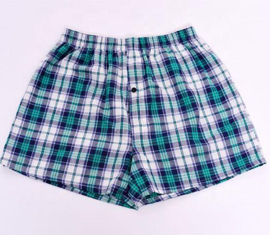 Wholesale Cotton Men Woven Boxer Shorts