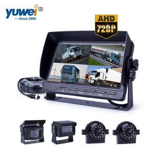7 inch Car Rear View  Video 1// 2// 4 Screen Split Monitor FOR CAR BUS Rear Camera