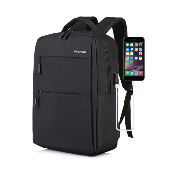 Black Unisex Cool Travel Laptop Waterproof USB Anti Theft Backpack