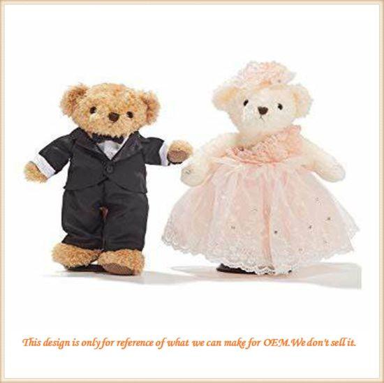 New Design Custom Made Plush Couple Teddy Bear Wedding Gift for Friends