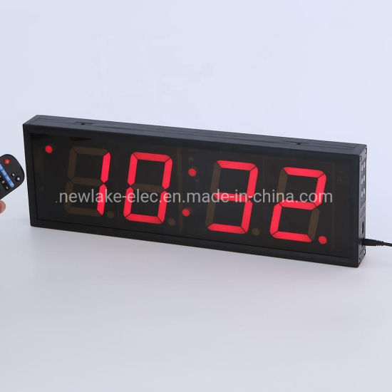 """4"""" 4-Digits LED Digital Wall Clock Timer Countdown/Count-up (FDC-404)"""