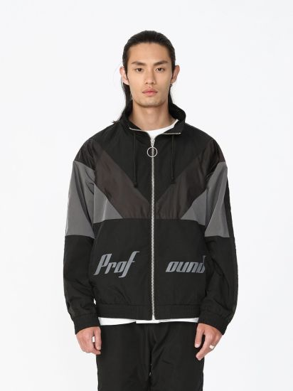 Cut and Sew Different Pieces Full Zipper Hoody Jackets