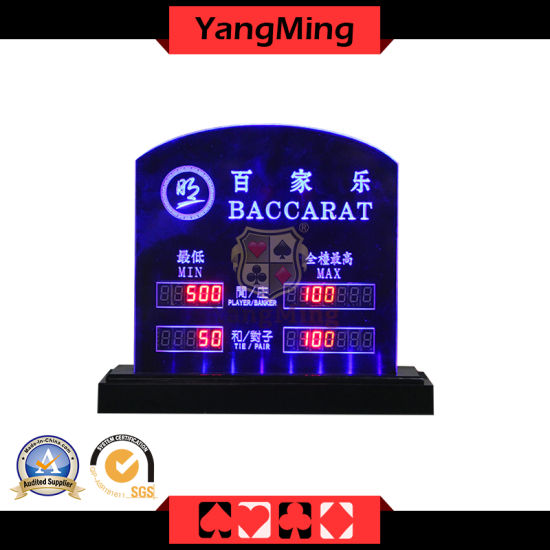 China Led Limit For Baccarat Casino Accessories Texas Poker Gambling Products Customize Clay Iron Abs Roulette Wheels Acrylic Ym Lc02 China Bet Sign And Baccarat Sign Price