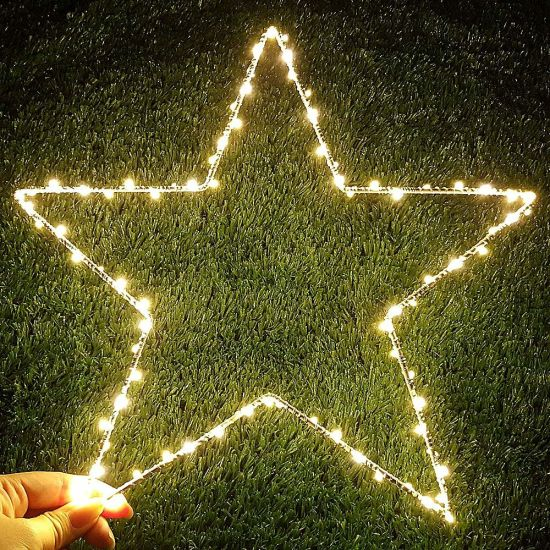 LED Star Copper Wire Lights for Christmas Wedding Decoration
