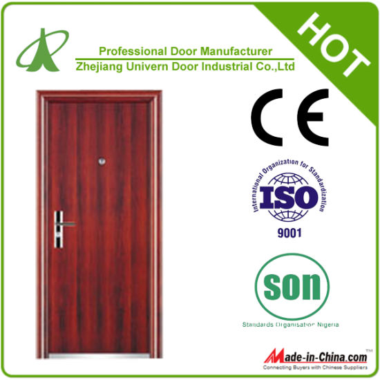 Exterior Metal Door with Glass (YF-S78) pictures & photos