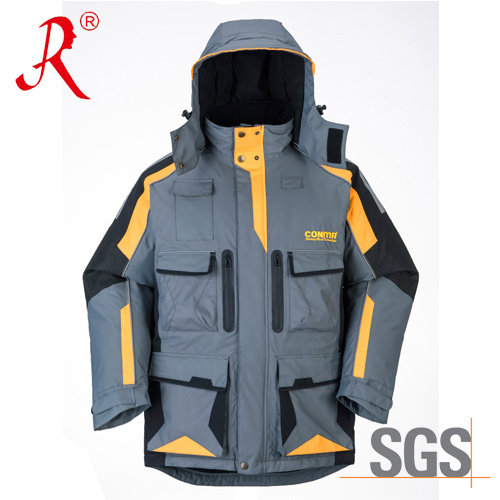 Fashion Sea Fishing Waterproof Quilted Jacket for Winter (QF-9050A)