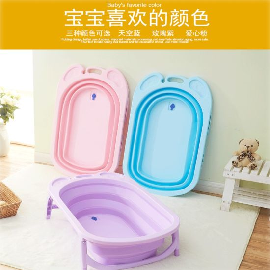 Folding Bathtubs Factory Direct Large Plastic Bath Tub For Baby Children