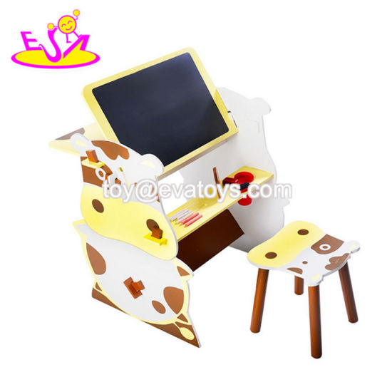 2018 New Arrival 2 In 1 Wooden Kids Art Desk For Preschool W08g238 Pictures Photos