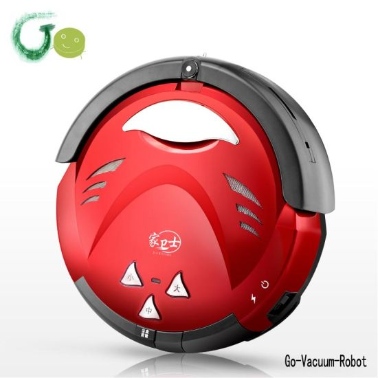 Multifunction Household Red Vacuum Cleaner Anti Collision, Anti Fall, HEPA Filter, Automatic Charging, Remote Control, Virtual Wall pictures & photos