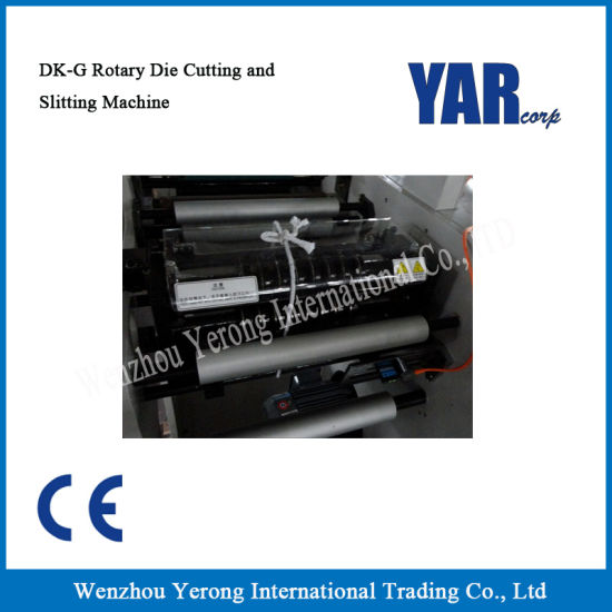 Good Quality Dk-320g/Dk-450g Slitting Machine with Rotary Die-Cutting Station pictures & photos