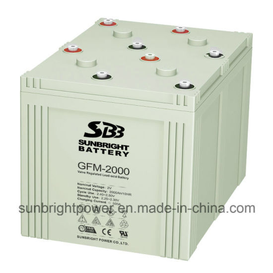 SBB Brand 2V2000ah Deep Cycle AGM Telecom Battery