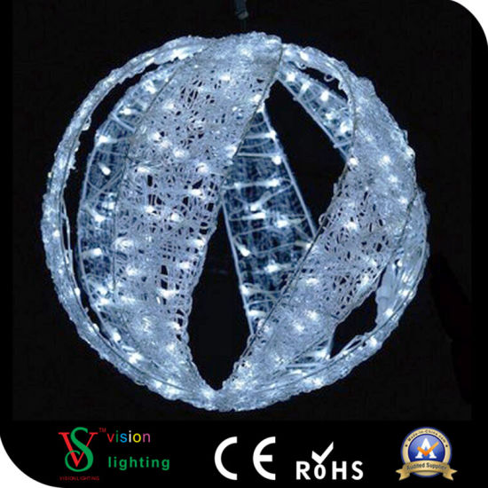 Acrylic LED Lighting Hanging Outdoor Christmas Decoration Balls pictures & photos